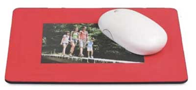 Alfombrilla para ratón con portafotos