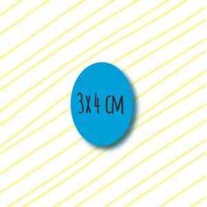 adhesivos ovalados personalizados