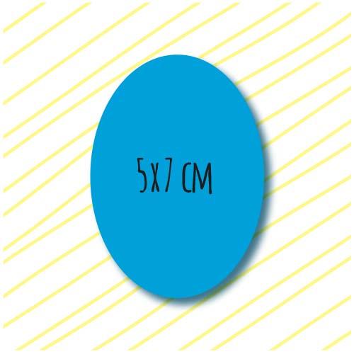 adhesivo ovalado