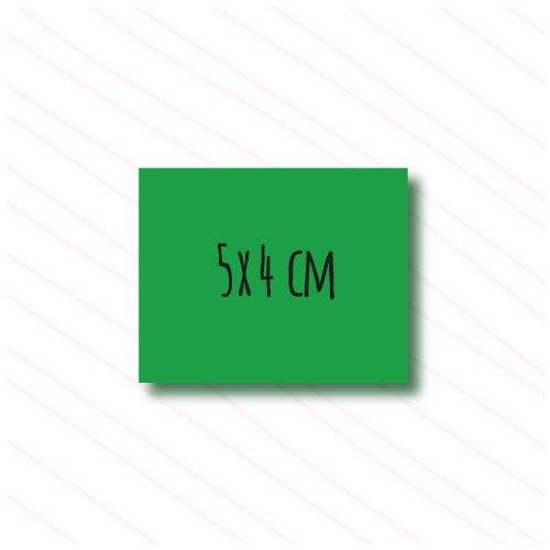 etiqueta rectangular personalizada
