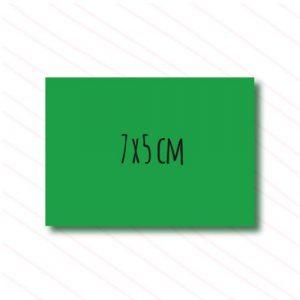 etiqueta rectangular