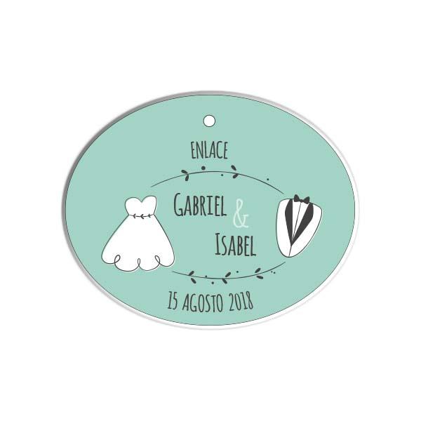 etiquetas ovaladas para regalos
