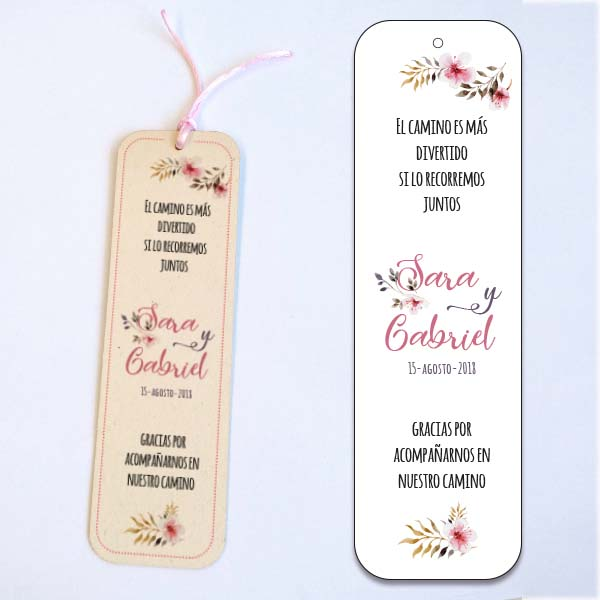 marcapaginas bodas