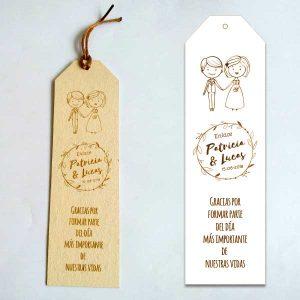 marcapaginas de madera