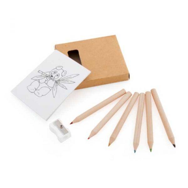 set bloc y lápices