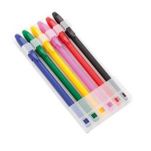 bolígrafos con tintas de color