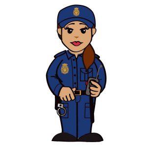 usb mujer policía