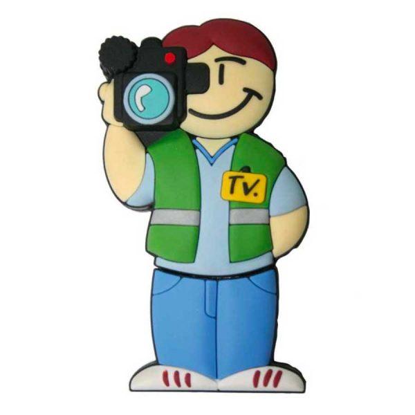 memoria usb reportero cámara