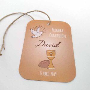 etiquetas personalizadas comunion