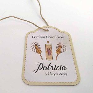 etiqueta personalizada comunion