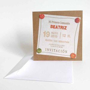 tarjetas invitacion comunion