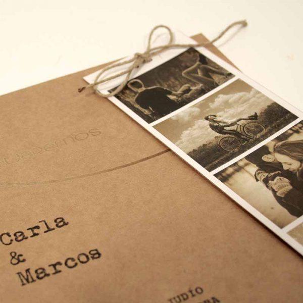 invitaciones de boda con foto