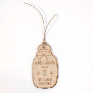 etiqueta de madera personalizada