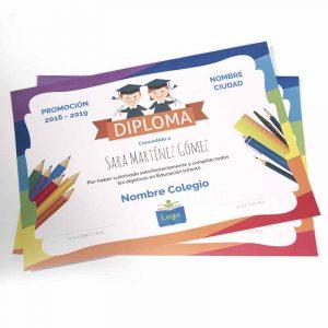 diploma graduacion infantil