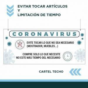 carteles techo coronavirus