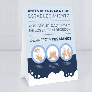 cartel lavado manos coronavirus