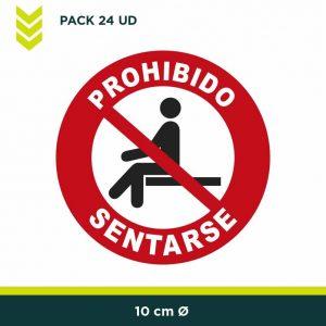 vinilo prohibido sentarse
