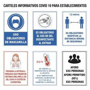 carteles informativos covid establecimientos