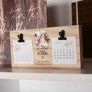 calendario bloques de madera