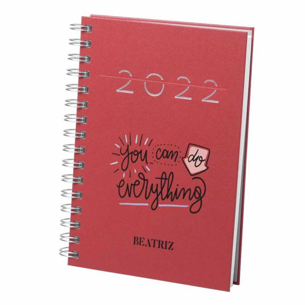 agenda personalizada frase
